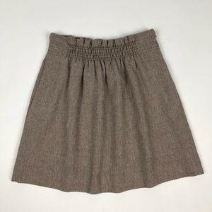 J. Crew Herringbone Wool Skirt Size 8